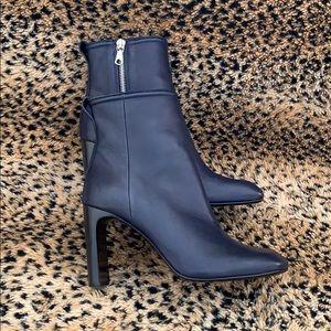 Rag & Bone Ellis Blue Leather Ankle Boots